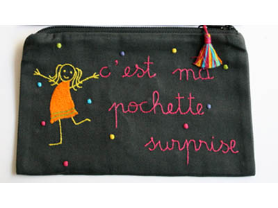 pochette surprise orange point multicolore av
