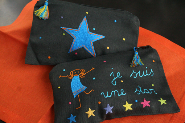 Pochette star multico